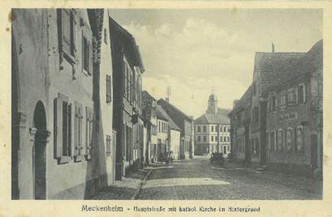 Historische Aufnahme - Hauptstraße - Meckenheim Pfalz
