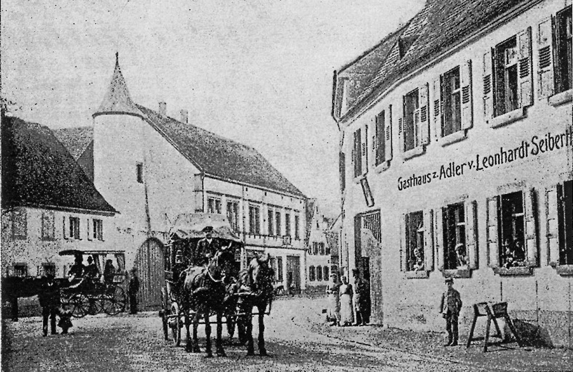 letzte Postkutsche von meckenheim / pfalz